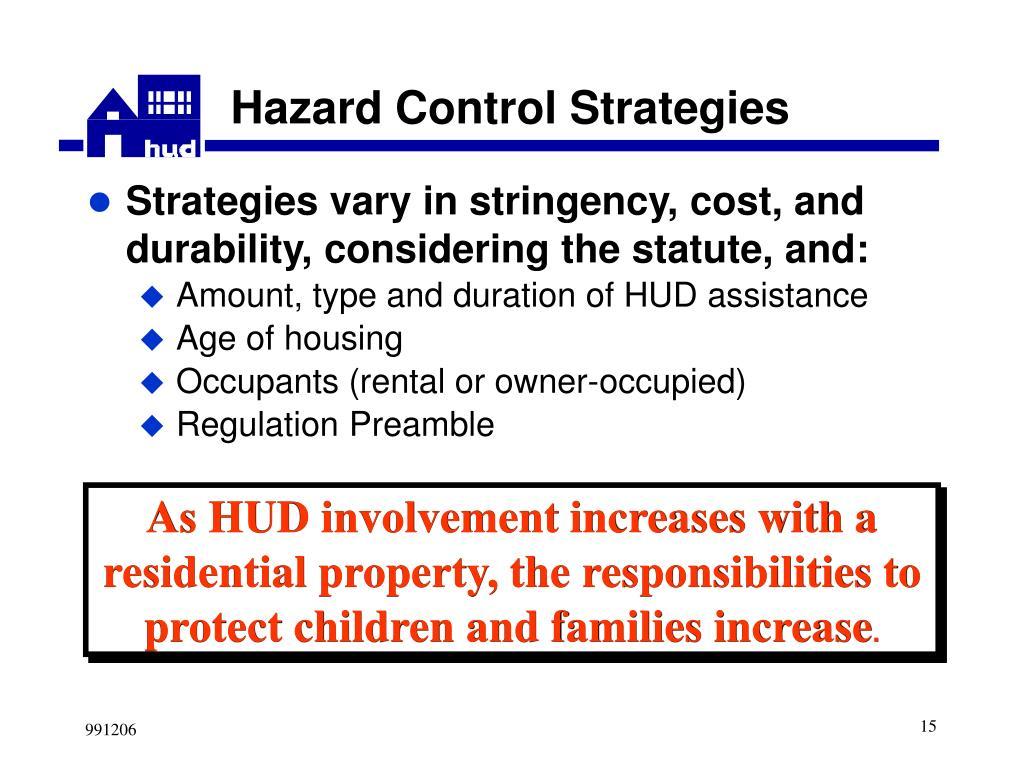 Hazard Control Strategies