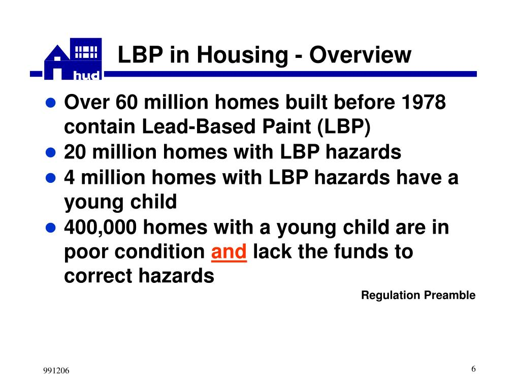 LBP in Housing - Overview