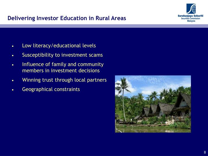 Delivering Investor Education in Rural Areas