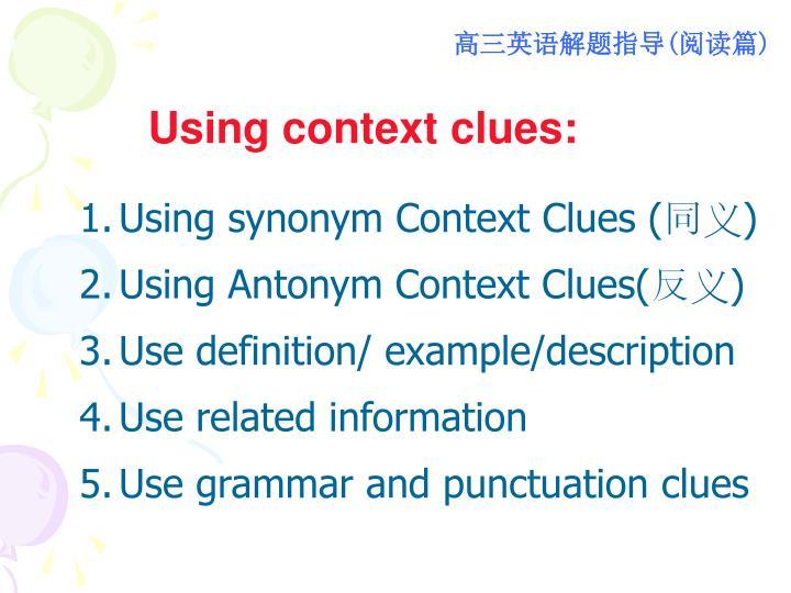 Using context clues: