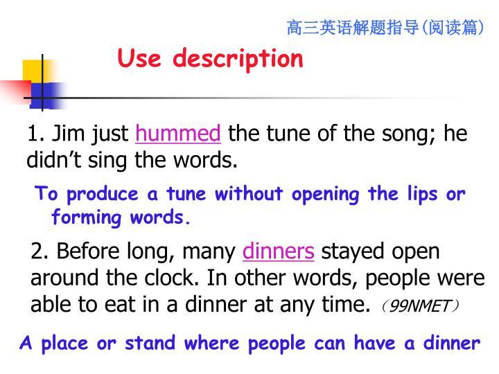 Use description