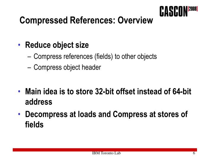 Compressed References: Overview