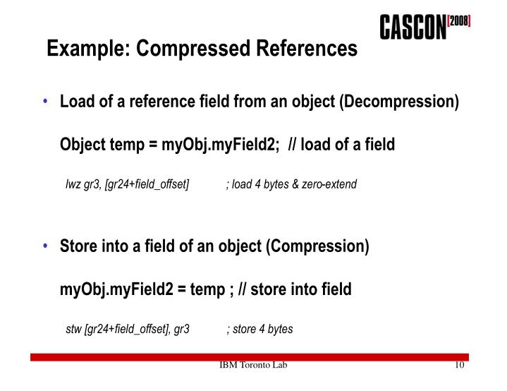 Example: Compressed References