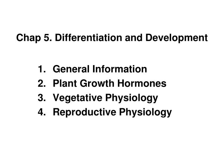 Chap 5 differentiation and development