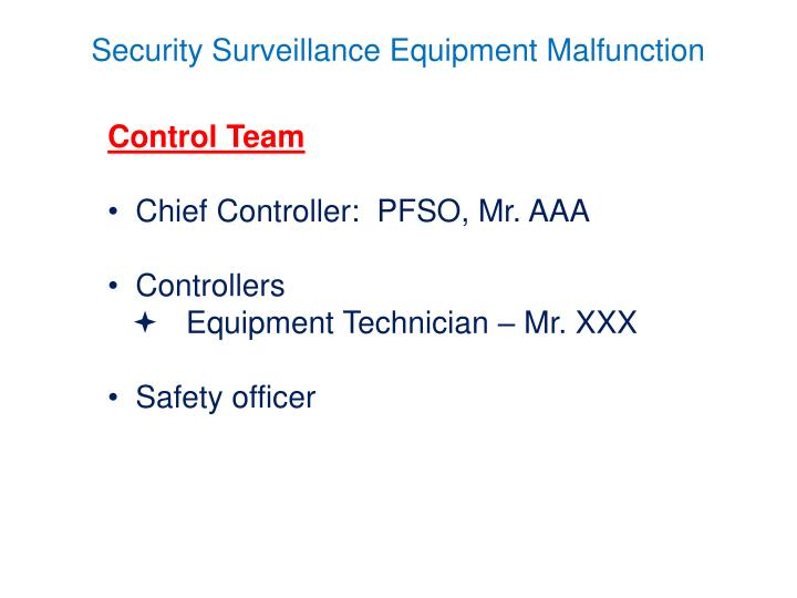 Control Team