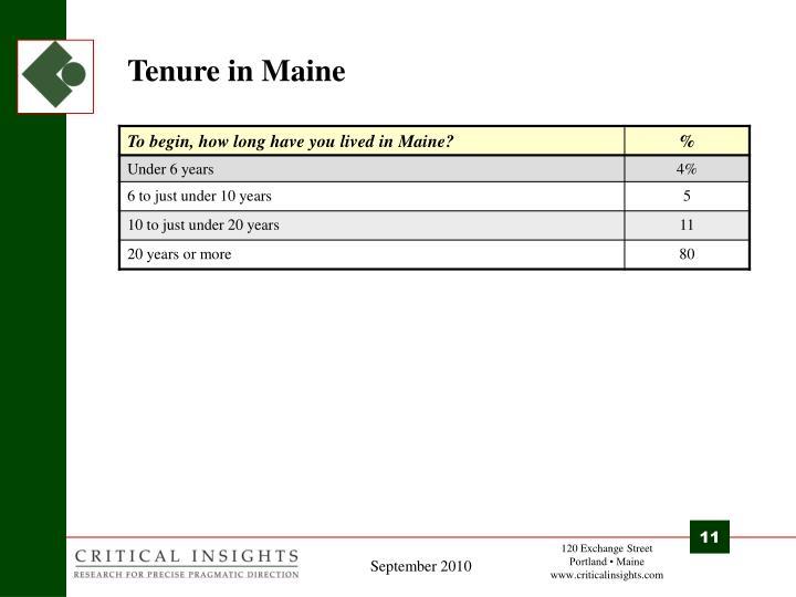 Tenure in Maine