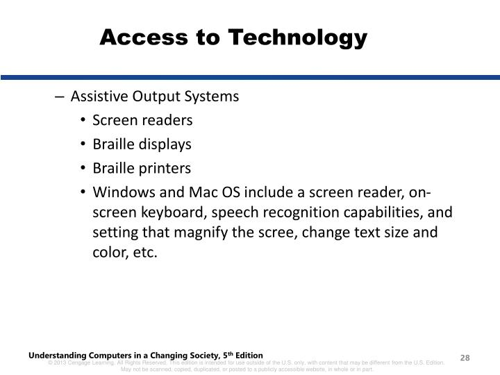 Access to Technology