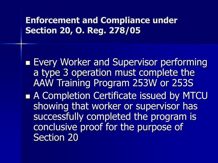 Enforcement and Compliance under