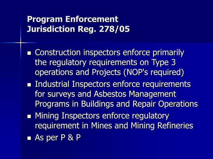 Program Enforcement