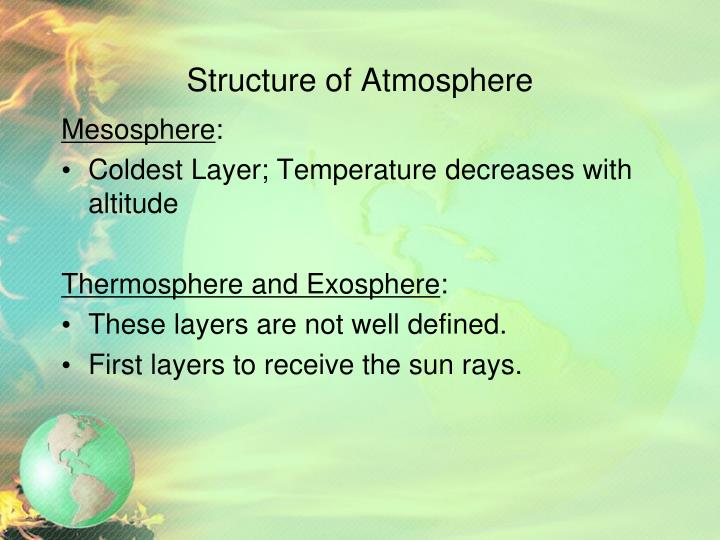 Structure of Atmosphere