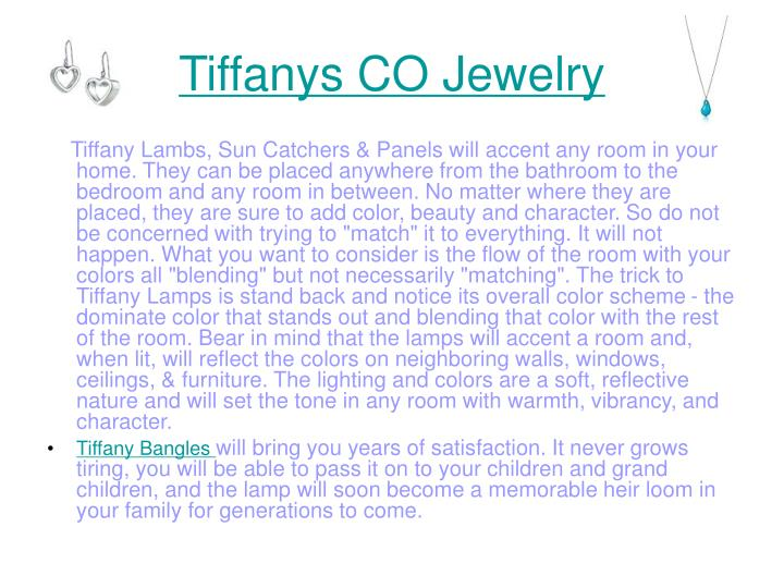 Tiffanys co jewelry