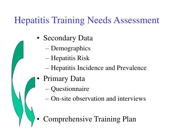 Hepatitis Training Needs Assessment