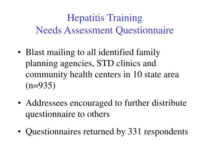 Hepatitis Training