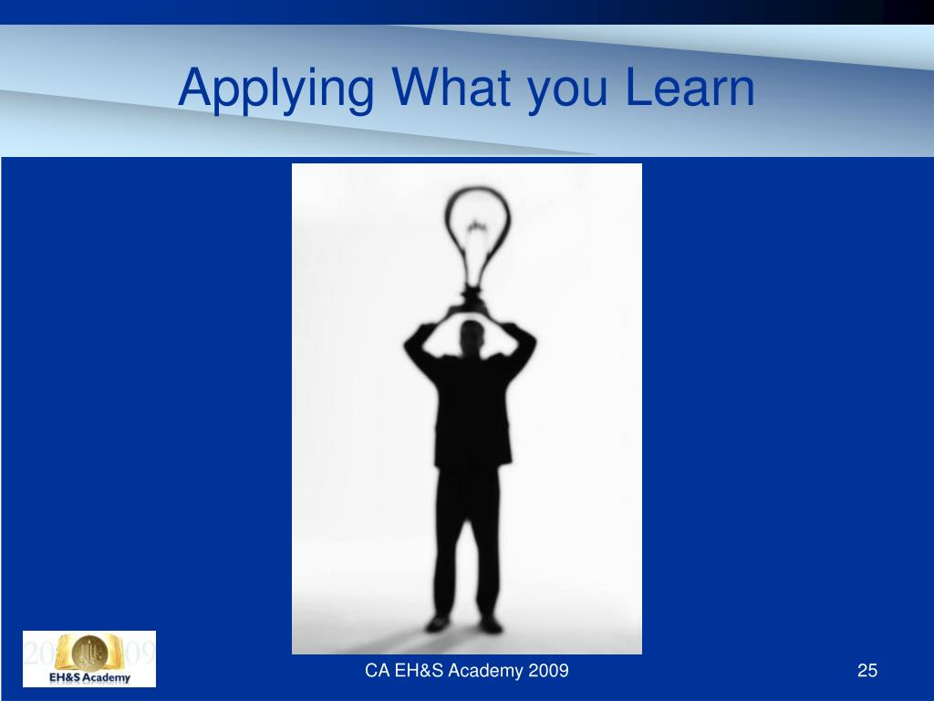 Applying What you Learn