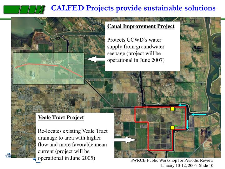CALFED Projects provide sustainable solutions