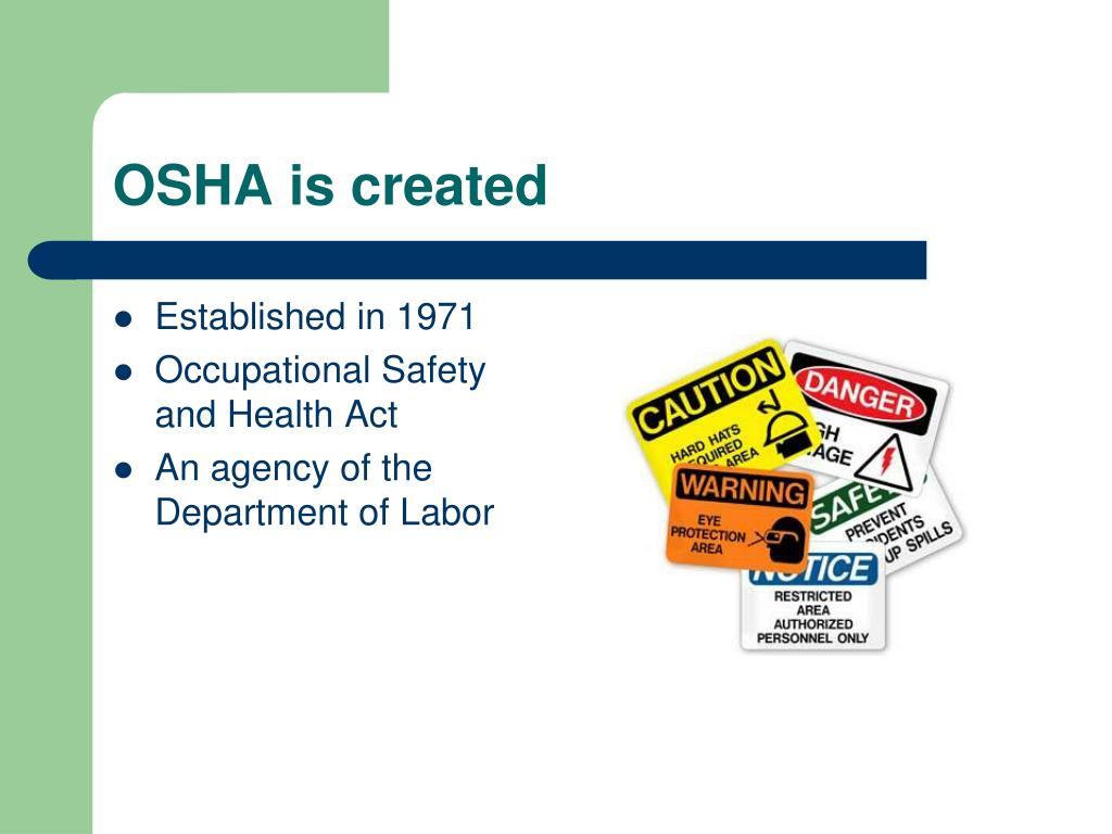 OSHA is created