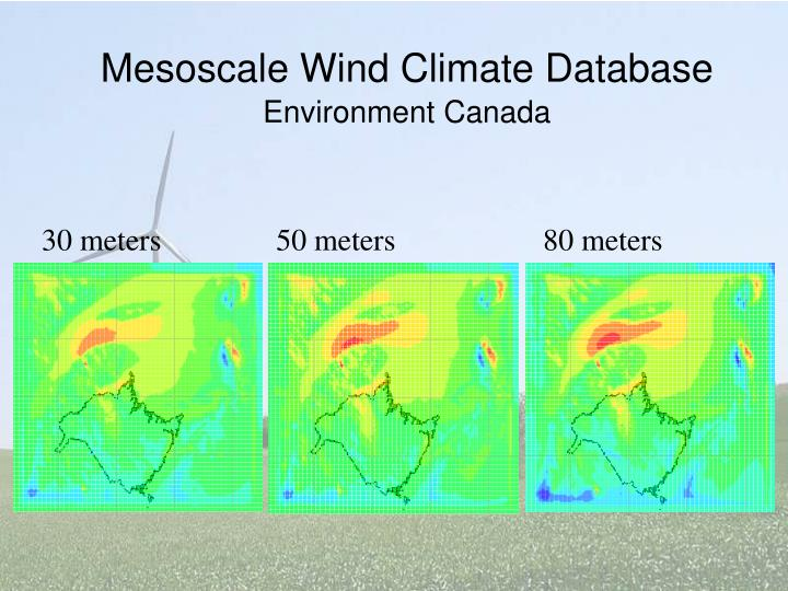 Mesoscale Wind Climate Database