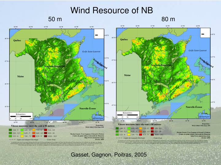 Wind Resource of NB