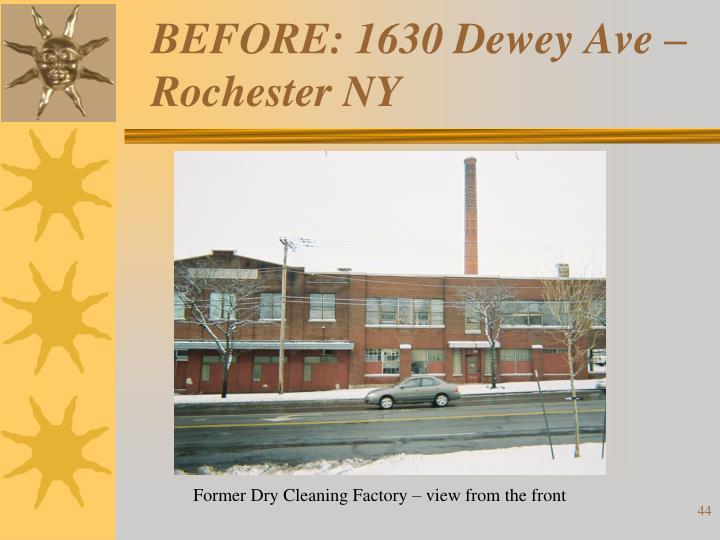 BEFORE: 1630 Dewey Ave – Rochester NY