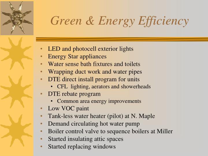 Green & Energy Efficiency