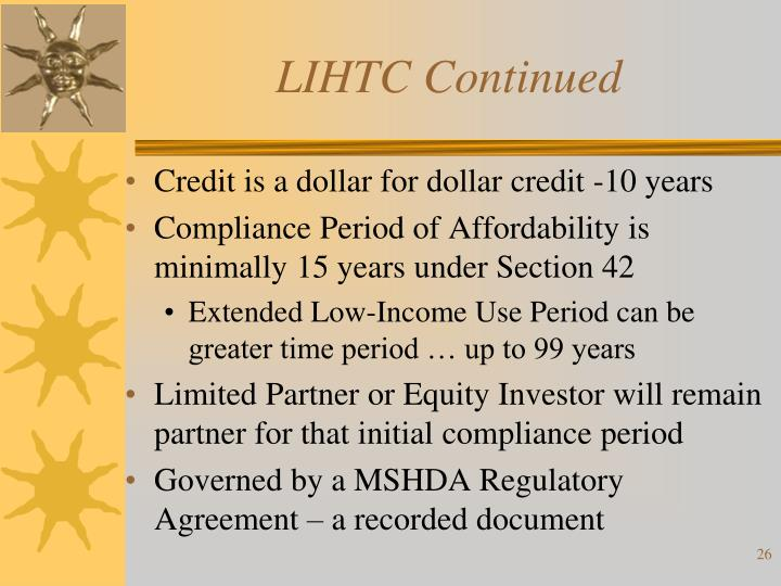 LIHTC Continued