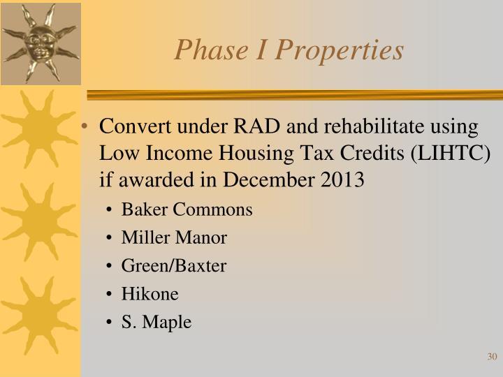 Phase I Properties