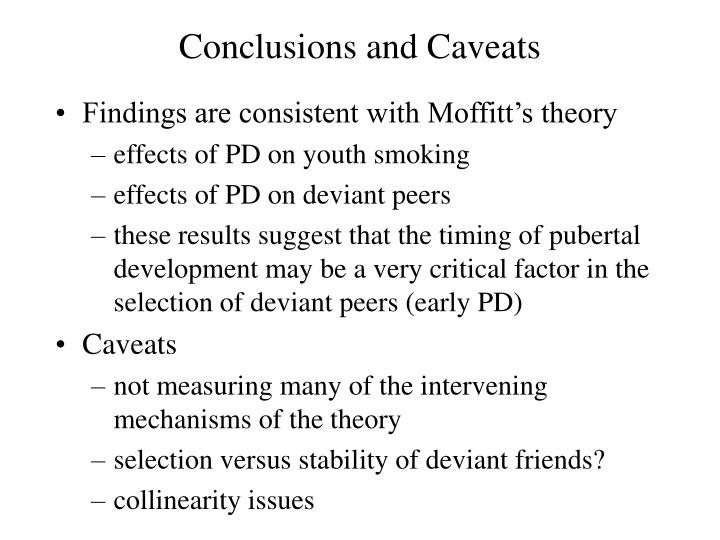 Conclusions and Caveats