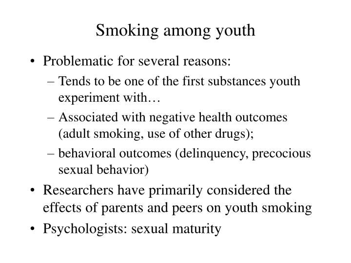 Smoking among youth