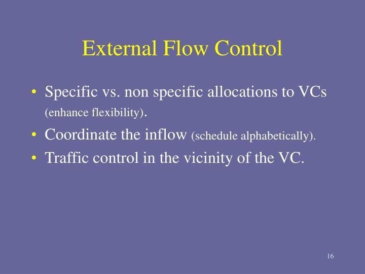 External Flow Control