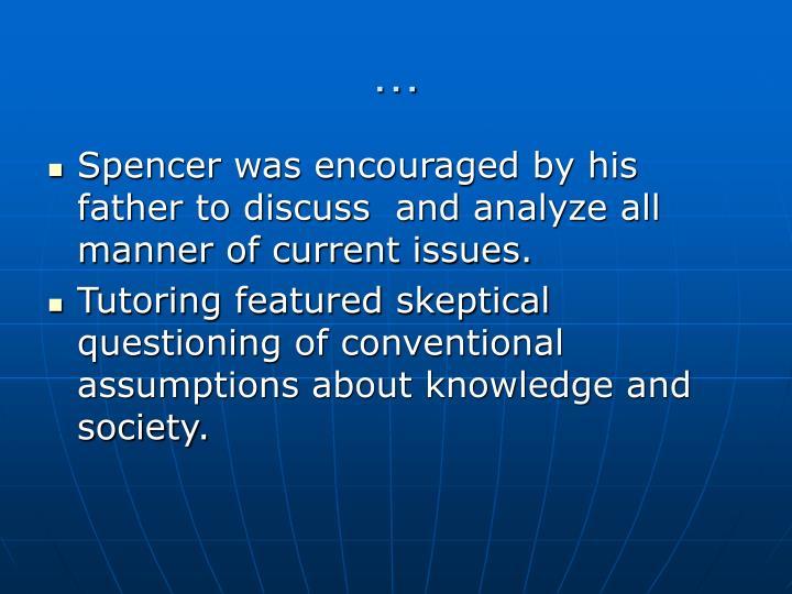 herbert spencer essays scientific political and speculative philosophy