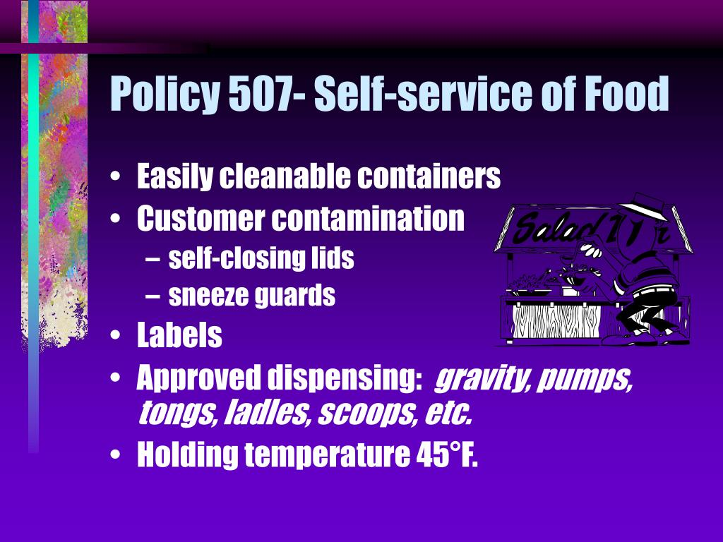 Policy 507- Self-service of Food