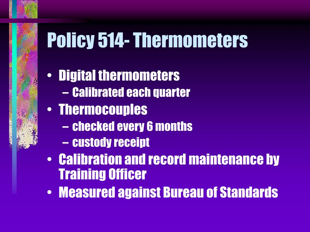 Policy 514- Thermometers