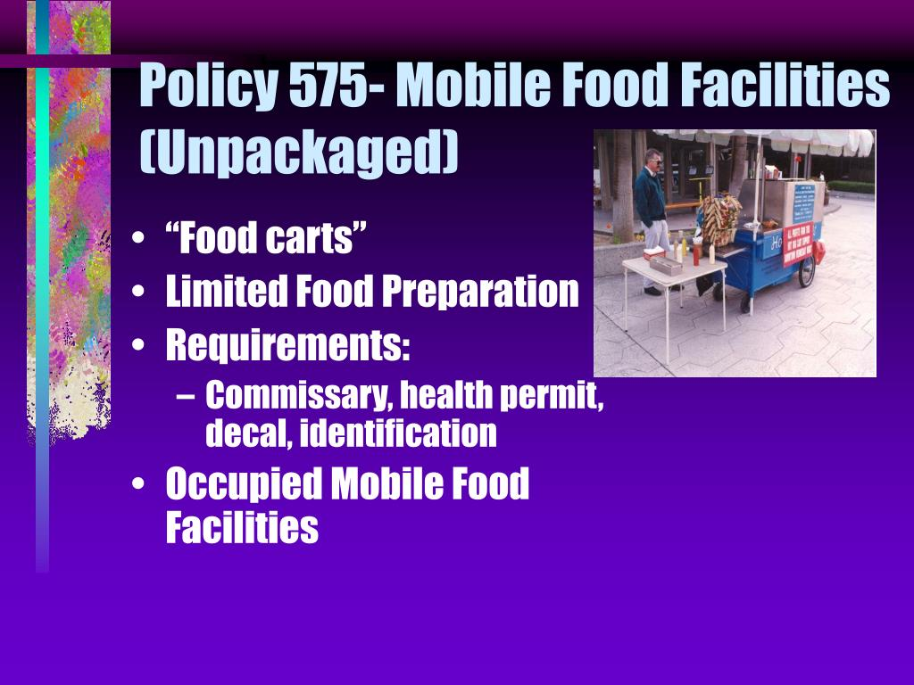 Policy 575- Mobile Food Facilities