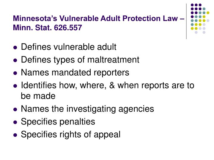 act adult in minnesota vulnerable