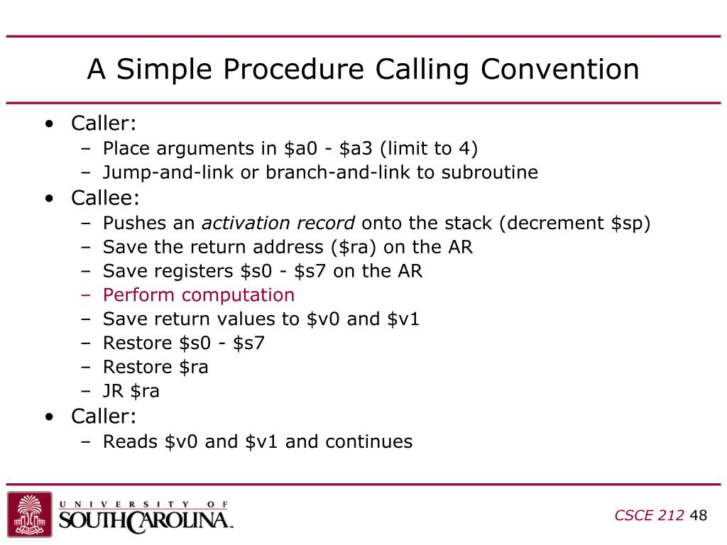 A Simple Procedure Calling Convention