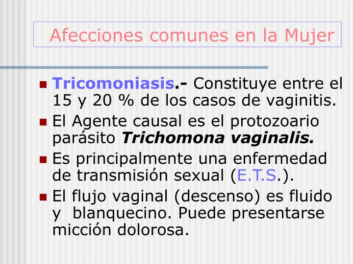 Afecciones comunes en la Mujer