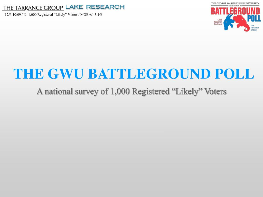 THE GWU BATTLEGROUND POLL