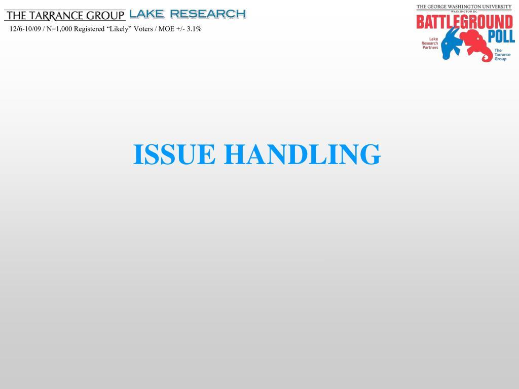 ISSUE HANDLING