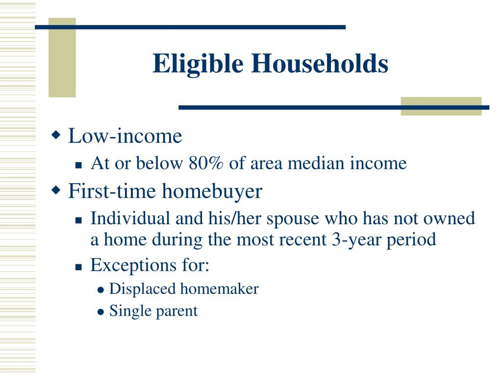 Eligible Households