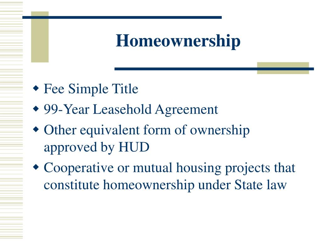 Homeownership