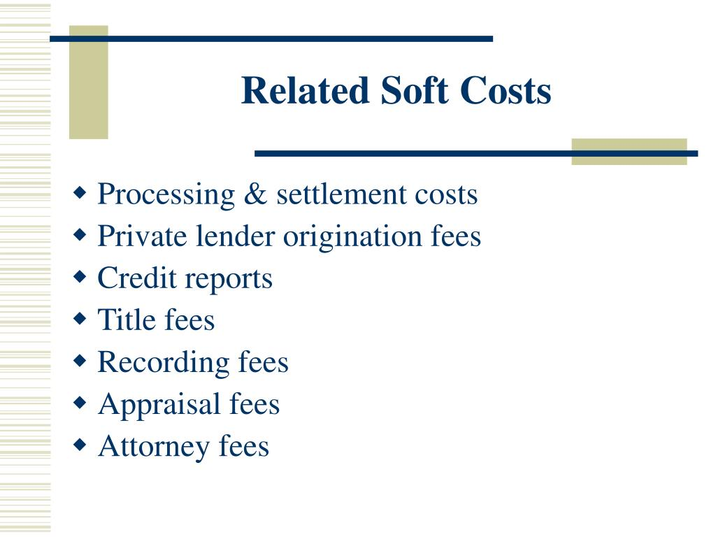 Related Soft Costs