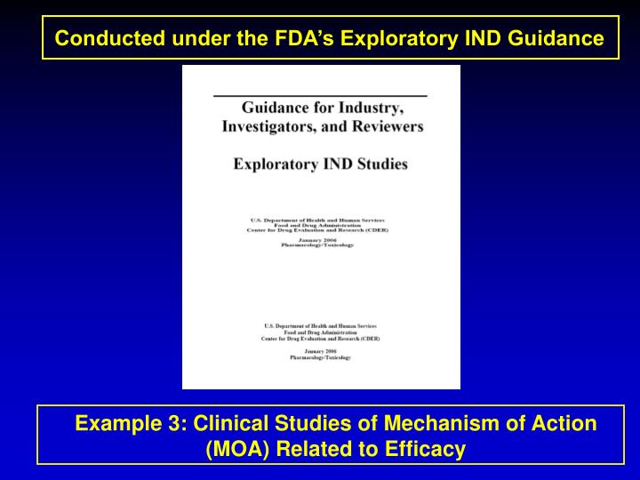 Conducted under the FDA's Exploratory IND Guidance