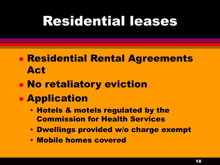 Residential leases