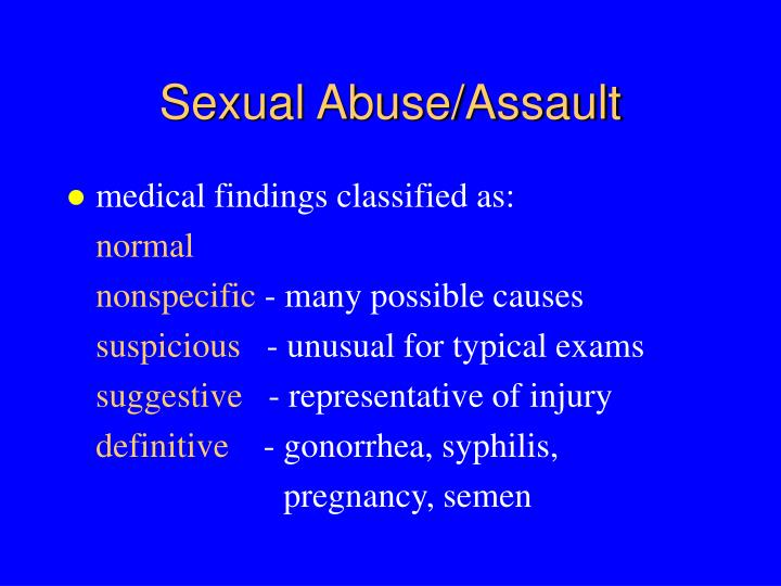 Sexual Abuse/Assault