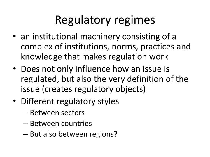 Regulatory