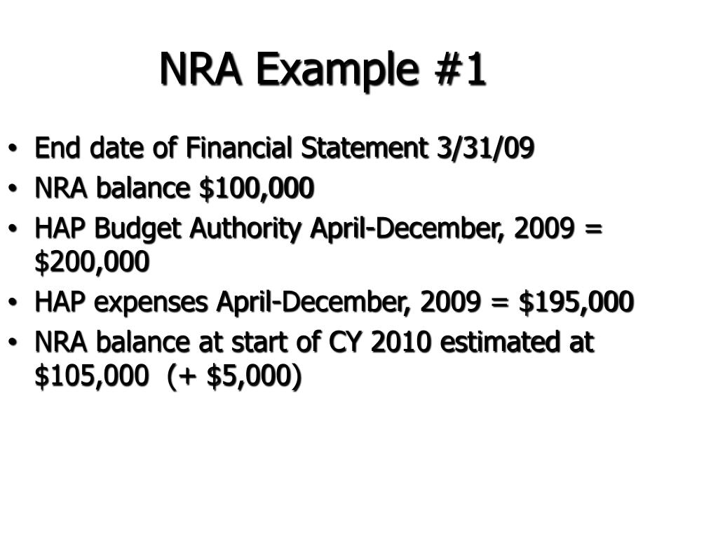 NRA Example #1