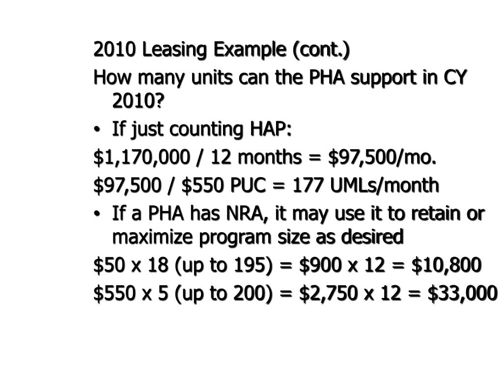 2010 Leasing Example (cont.)
