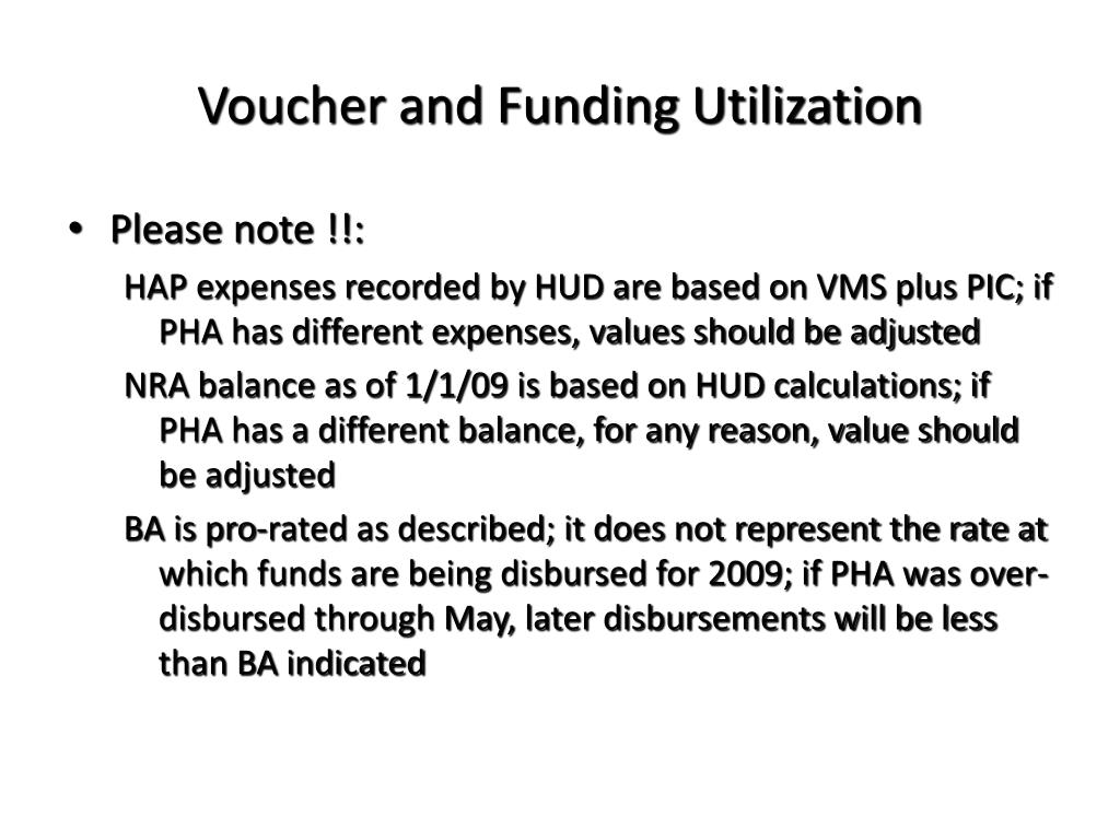 Voucher and Funding Utilization