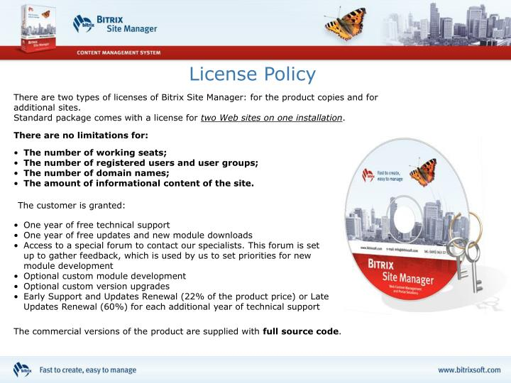License Policy