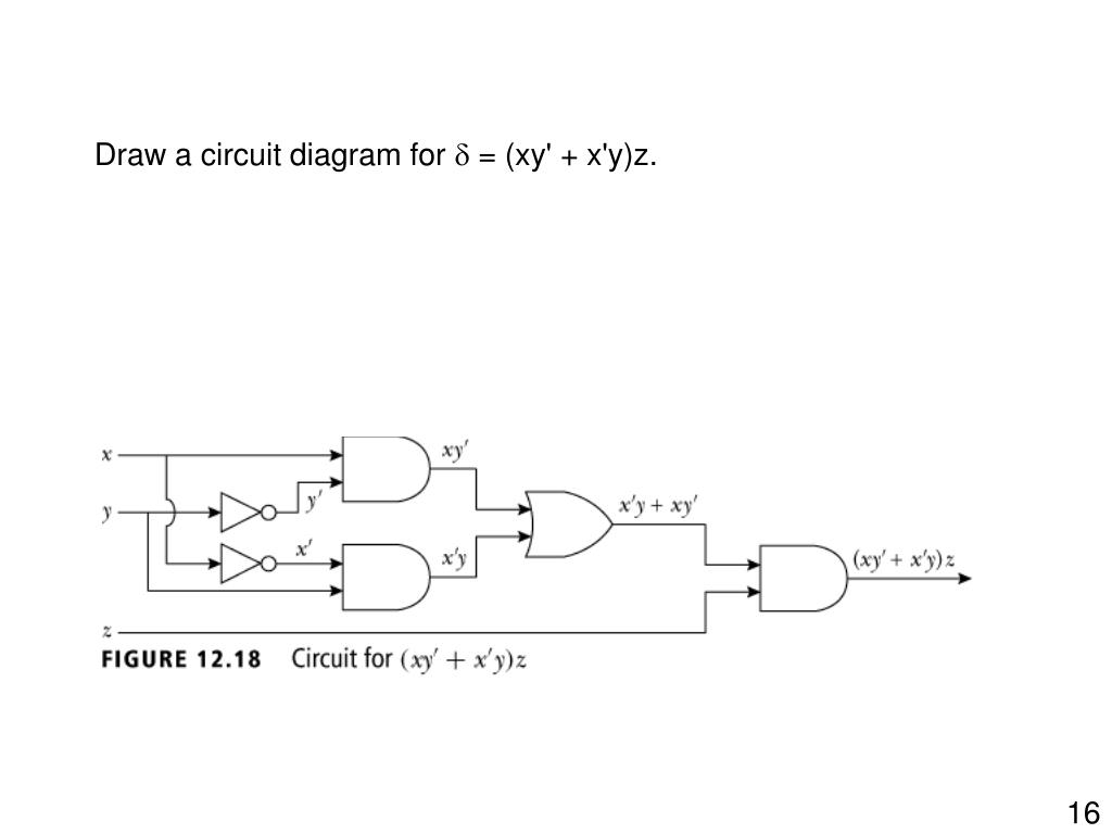 Draw a circuit diagram for